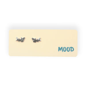 Shark Mood Post Earrings on Gift Card
