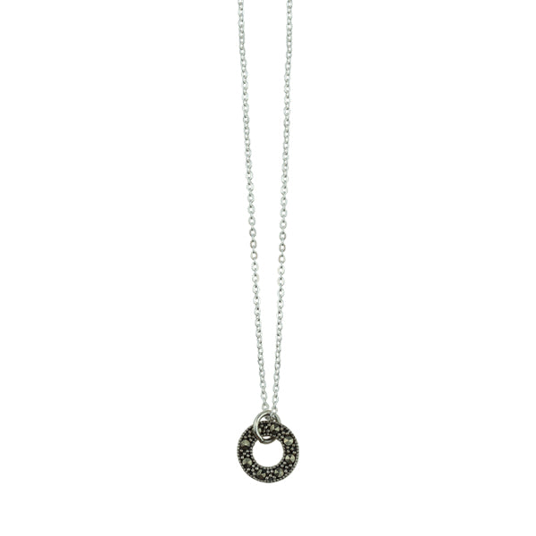 Marcasite Circle Necklace
