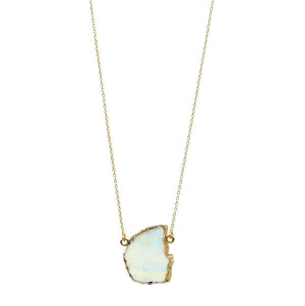 Moonscape Necklace in Gold