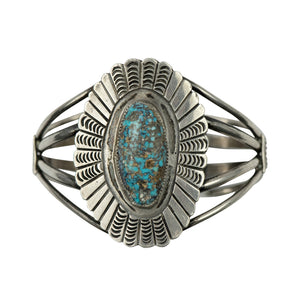 Vintage Turquoise Peacock Cuff