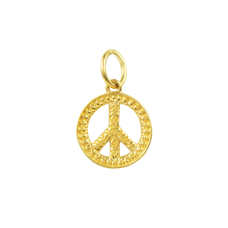 Gold Peace Charm
