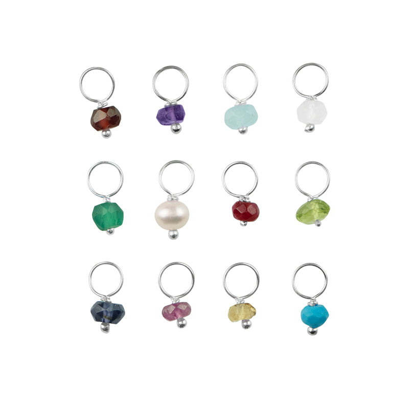 Birthstone Rondelle Charms