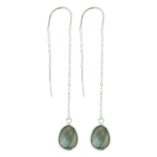 Fluency Earrings In Labradorite And Silver