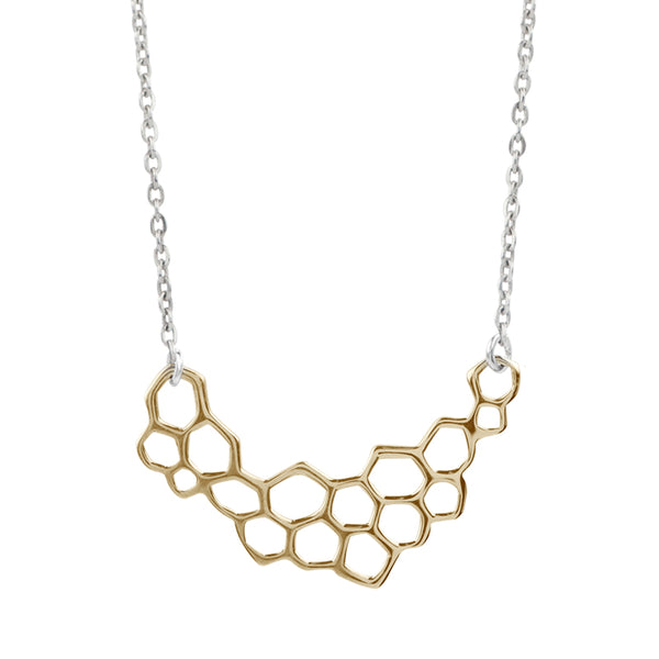 Bronze Honeycomb Necklace