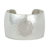 Sacred Lotus Cuff in Silver
