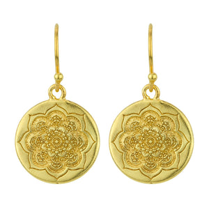 Sacred Lotus Coin Earrings