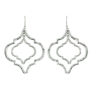 Tangiers Earrings in Silver