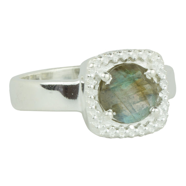 Let it Glow Ring in Silver and Labradorite