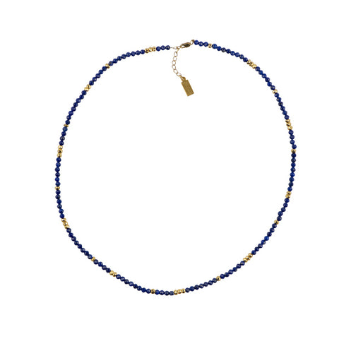 Duality Necklace/ Wrap in Lapis