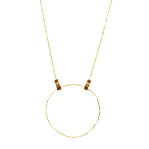 Tethered Leather Necklace in Gold