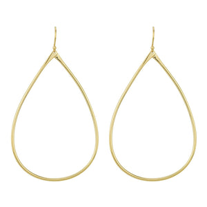 Large Open Tear Earrings in Gold