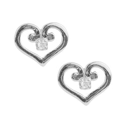 Swirly Heart Post Earring