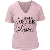 all i need is COFFEE & Lashes Tank/Tee