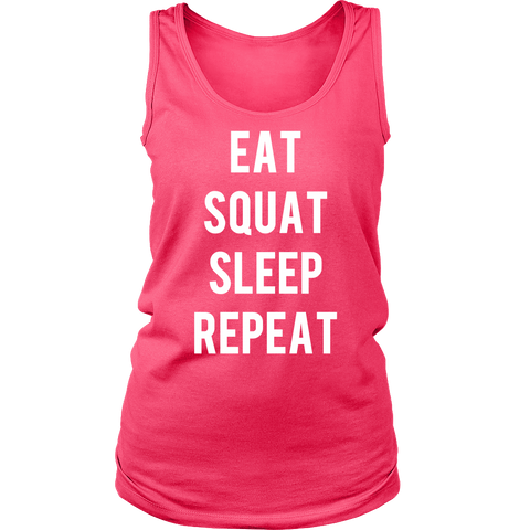 EAT SQUAT SLEEP REPEAT Crew/Tank/Tee