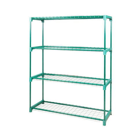 2x 4 Tier Plant Shelve Garden Greenhouse Steel Storage Shelving Frame Stand Rack