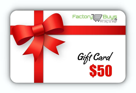 Gift Card - $50, $100, $250 or $500