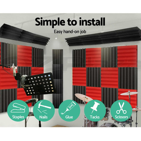 buy 20pcs studio acoustic foam sound absorption proofing
