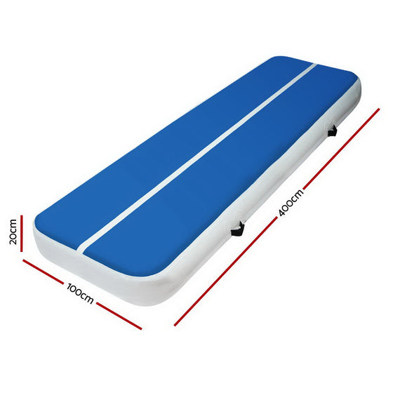 4m x 1m Inflatable Air Track Mat 20cm
