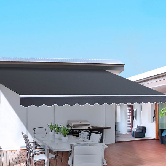 Outdoor Arm Awning 4 x 2.5M - Grey
