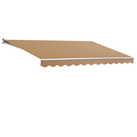 4M x 3M Outdoor Folding Arm Awning - Beige