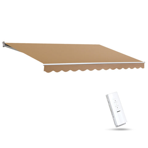 Motorised 4x3m Folding Arm Awning - Beige