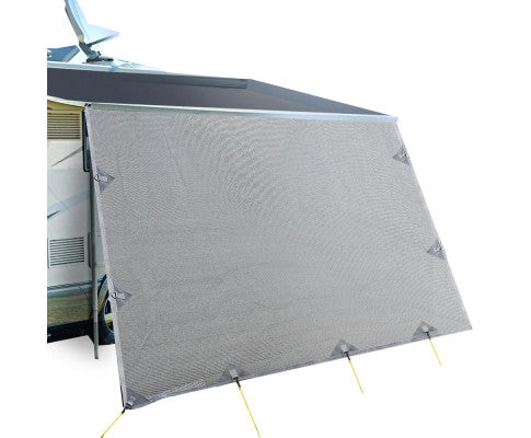 Caravan Privacy Screens 1.95m Roll Out Awning End Wall Side Sun Shade