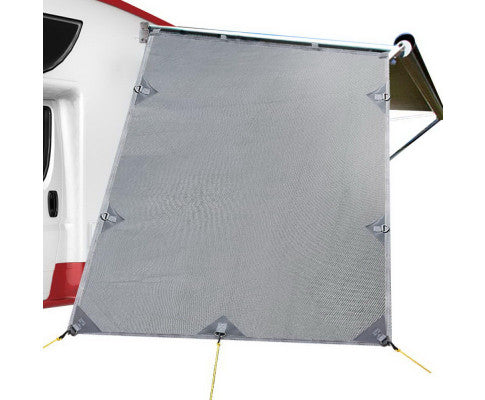 Caravan Privacy Screen 1.95 x 2.2M End Wall Side Sun Shade Roll Out Awning
