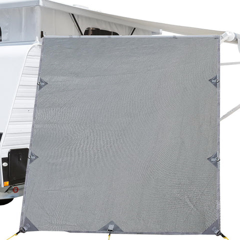 Top Caravan Privacy Screen 2.1 x 1.8M Sun Shade End Wall Roll Out Awning