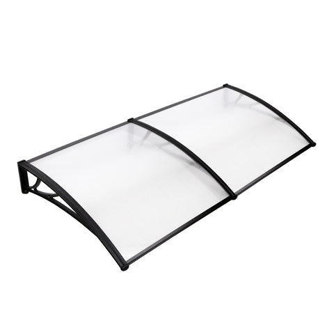 Window Door Awning Cover Transparent 100 x 200cm