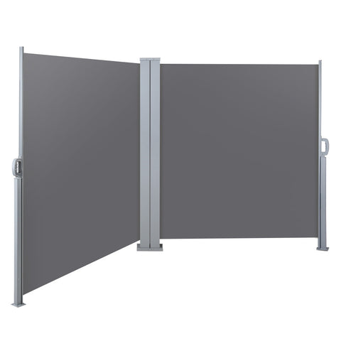 1.8X6M Retractable Side Awning Garden Shade Screen Panel Grey