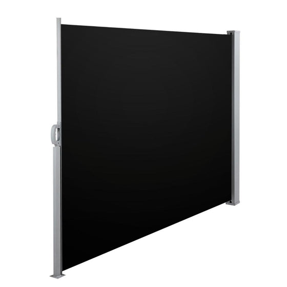 Retractable Side Awning Shade 200cm Black