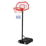 2.1M Adjustable Portable Basketball Stand Hoop System Rim White