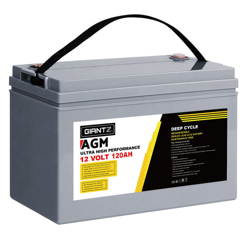 AGM Deep Cycle Battery 12V 120Ah Marine Sealed Power Solar