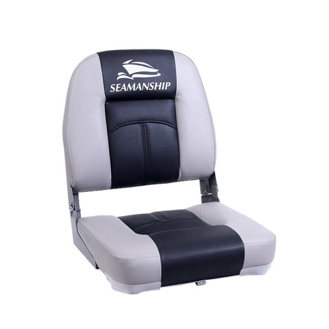 2X Folding Boat Seats Seat Marine Seating Set Swivels All Weather Charcoal & Grey