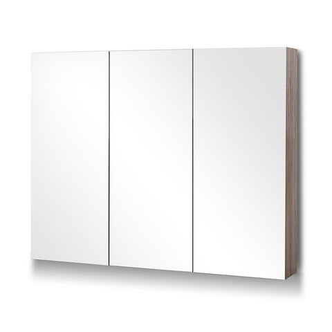 Bathroom Vanity 3 Door Storage Mirror Cabinet - Natural