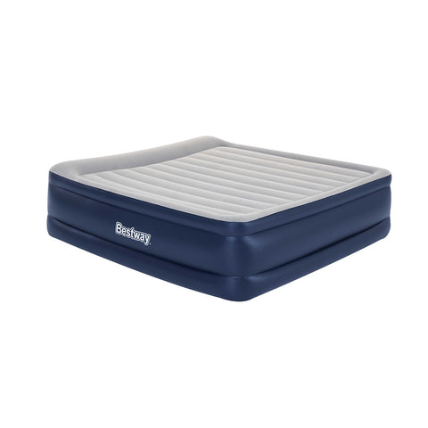 King Air Bed Inflatable Mattress Sleeping Mat Battery Built-in Pump