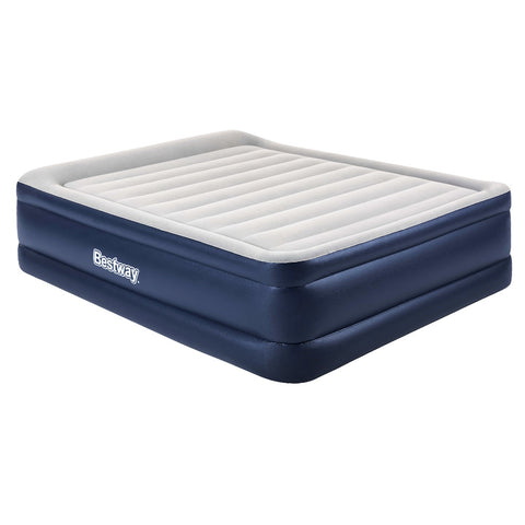 Queen Air Bed Inflatable Mattress Sleeping Mat Battery Built-in Pump