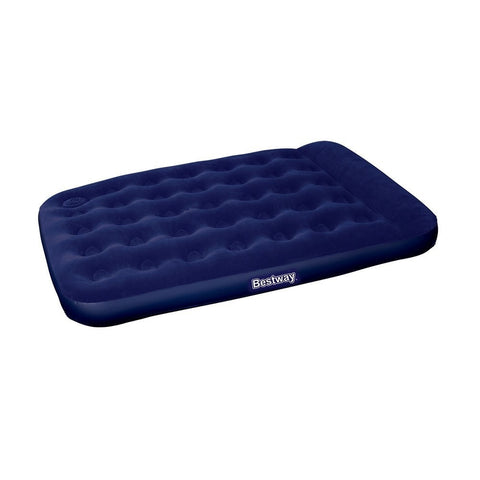 Bestway Double Inflatable Air Mattress Bed w/ Built-in Foot Pump Blue