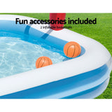 Inflatable Play Pool Kids Pool Swimming Basketball Play Pool