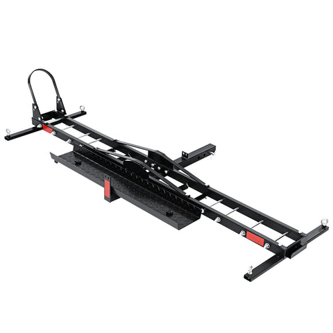 "Motorcycle Carrier 2 Arms Rack Ramp Motorbike Dirt Bike 2""Hitch Towbar"