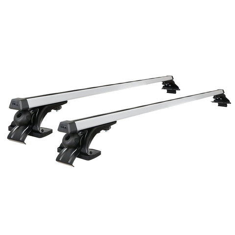 Universal Car Roof Rack 1450mm Cross Bars Aluminium Silver Adjustable Brackets Carrier 90kg