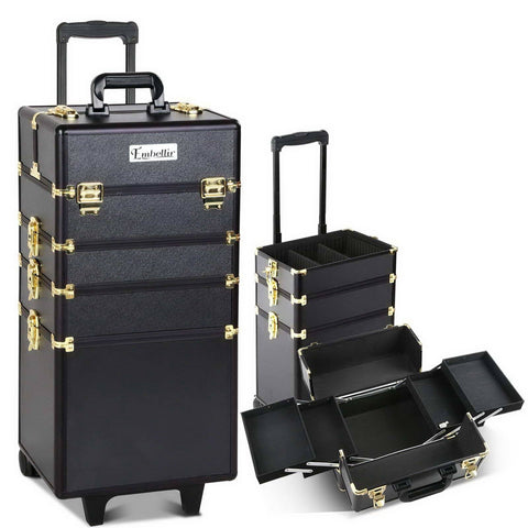 7 in 1 Beauty Case - Black & Gold