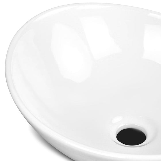 Ceramic Sink Round White 410 x 340