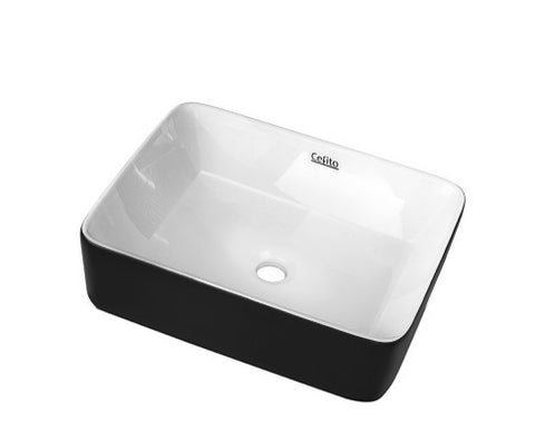 Ceramic Bathroom Basin Sink Vanity Above Counter Basins Bowl Black White