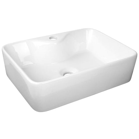 Ceramic Sink Rectangle White 480 x 380