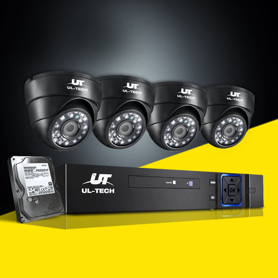 CCTV Security System 2TB 4CH DVR 1080P 4 Camera Sets