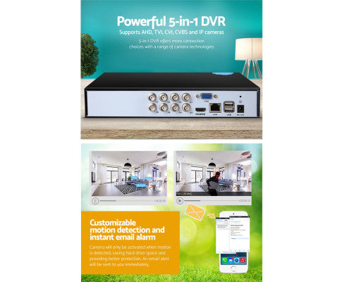 5 in 8CH CCTV Security Video Recorder