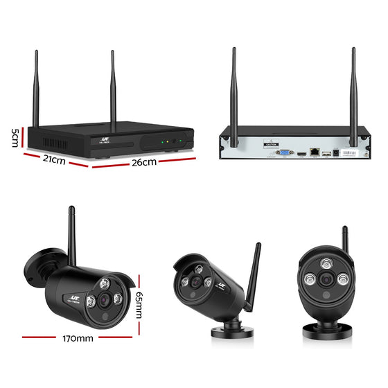1080P 8CH Wireless Security Camera NVR Video
