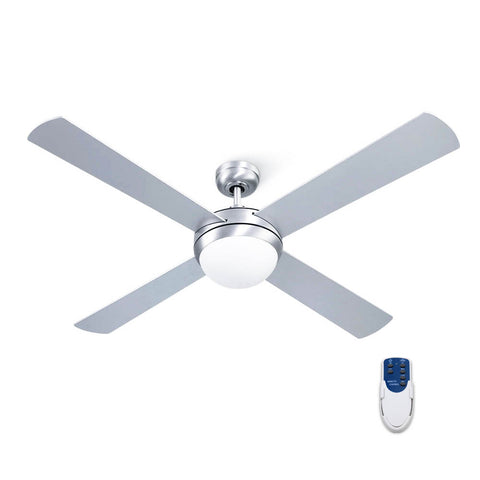 "52"" Ceiling Fan with Light Silver"