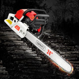 92CC Commercial Petrol Chainsaw - Red & White